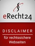 eRecht24 Rechtssicherer Disclaimer
